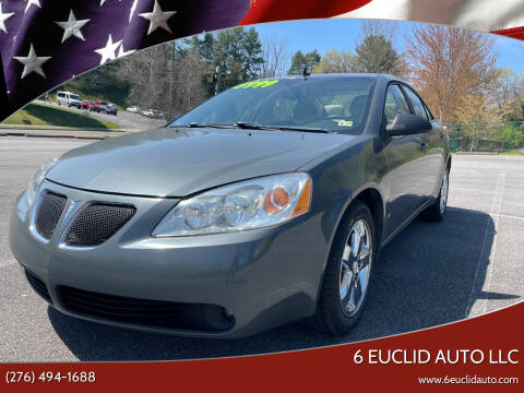 2008 Pontiac G6 for sale at 6 Euclid Auto LLC in Bristol VA