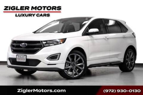 2017 Ford Edge for sale at Zigler Motors in Addison TX