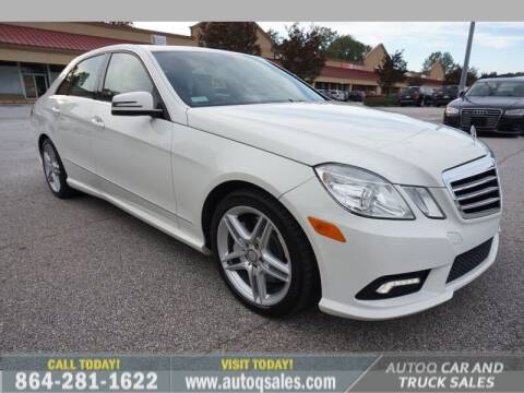 2011 Mercedes-Benz E-Class for sale at Auto Q Car and Truck Sales in Mauldin SC