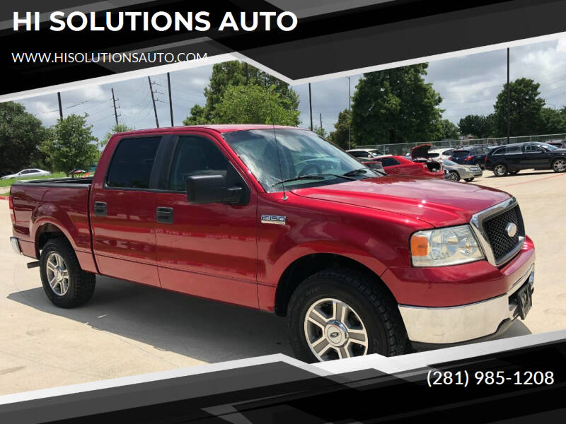 2008 Ford F-150 for sale at HI SOLUTIONS AUTO in Houston TX