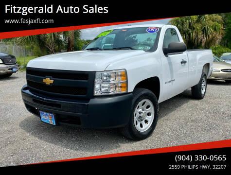2013 Chevrolet Silverado 1500 for sale at Fitzgerald Auto Sales in Jacksonville FL
