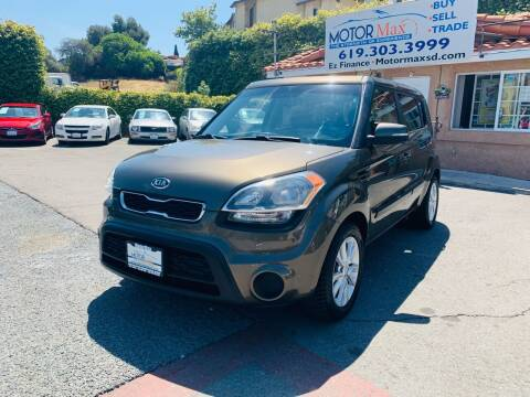 2012 Kia Soul for sale at MotorMax in Lemon Grove CA