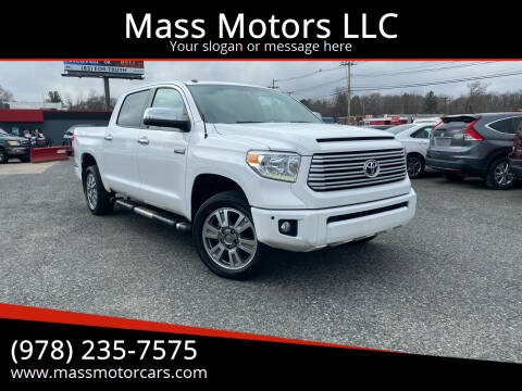 2016 Toyota Tundra for sale at Mass Motors LLC in Worcester MA