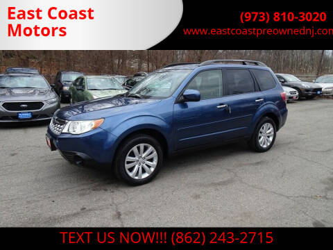 2012 Subaru Forester for sale at East Coast Motors in Lake Hopatcong NJ