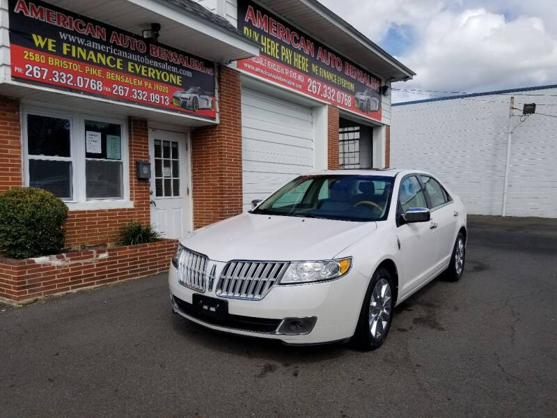 2011 Lincoln MKZ for sale at American Auto Bensalem Inc in Bensalem PA