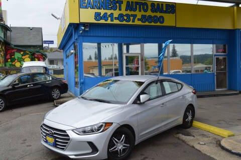 2018 Hyundai Elantra for sale at Earnest Auto Sales in Roseburg OR