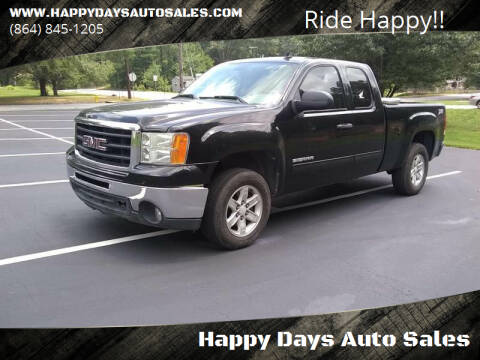 2011 GMC Sierra 1500 for sale at Happy Days Auto Sales in Piedmont SC