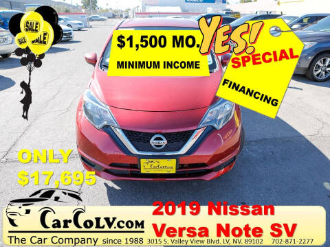 2019 Nissan Versa Note for sale at The Car Company in Las Vegas NV
