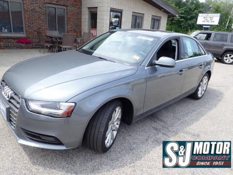 2013 Audi A4 for sale at S & J Motor Co Inc. in Merrimack NH
