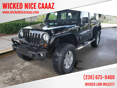 2010 Jeep Wrangler Unlimited for sale at WICKED NICE CAAAZ in Cape Coral FL