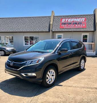 2015 Honda CR-V for sale at Stephen Motor Sales LLC in Caldwell OH