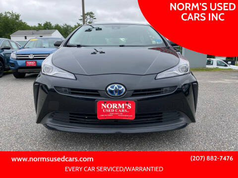 2019 Toyota Prius for sale at NORM'S USED CARS INC in Wiscasset ME
