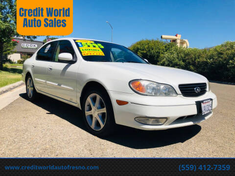 2002 Infiniti I35 for sale at Credit World Auto Sales in Fresno CA