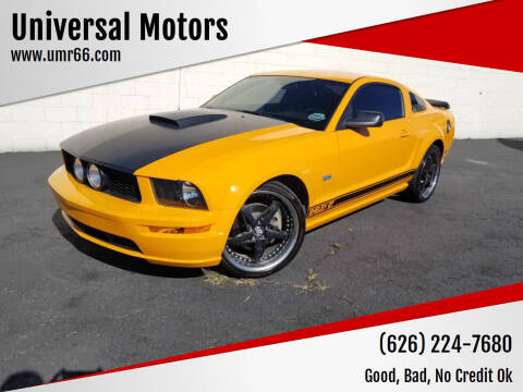 2008 Ford Mustang for sale at Universal Motors in Glendora CA