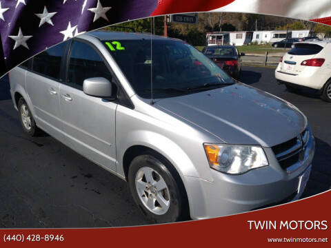 2012 Dodge Grand Caravan for sale at TWIN MOTORS in Madison OH