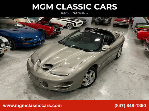 2001 Pontiac Firebird for sale at MGM CLASSIC CARS in Addison, IL