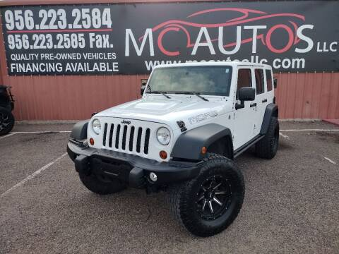 2013 Jeep Wrangler Unlimited for sale at MC Autos LLC in Pharr TX