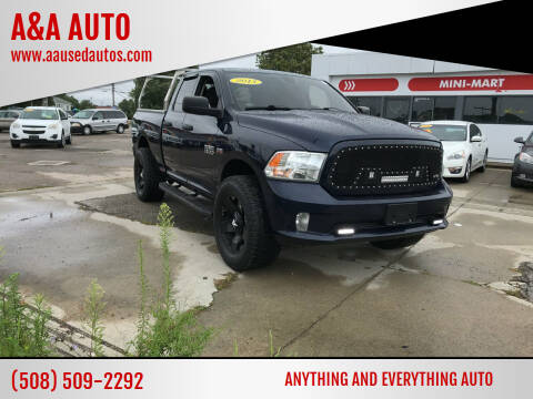 2013 RAM Ram Pickup 1500 for sale at A&A AUTO in Fairhaven MA