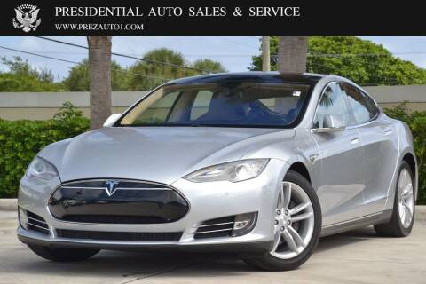 2014 Tesla Model S for sale at Presidential Auto  Sales & Service in Delray Beach FL