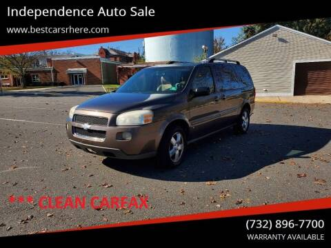 2008 Chevrolet Uplander for sale at Independence Auto Sale in Bordentown NJ