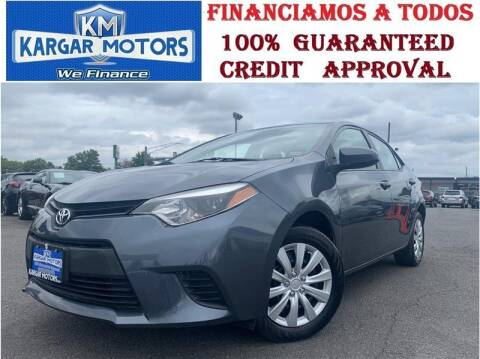 2014 Toyota Corolla for sale at Kargar Motors of Manassas in Manassas VA