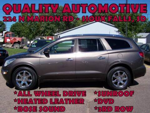 2010 Buick Enclave for sale at Quality Automotive in Sioux Falls SD