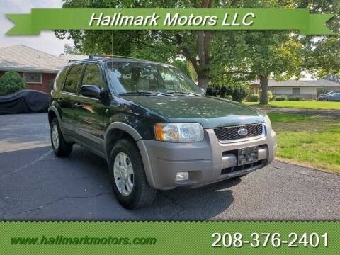 2002 Ford Escape for sale at HALLMARK MOTORS LLC in Boise ID