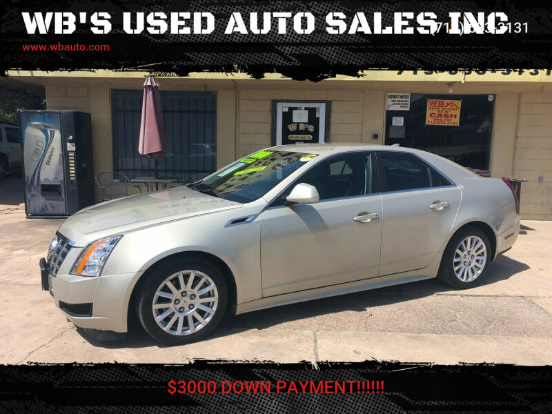 2013 Cadillac CTS for sale at WB'S USED AUTO SALES INC in Houston TX