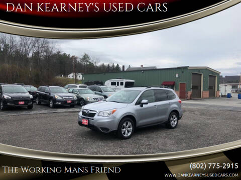 2015 Subaru Forester for sale at DAN KEARNEY'S USED CARS in Center Rutland VT