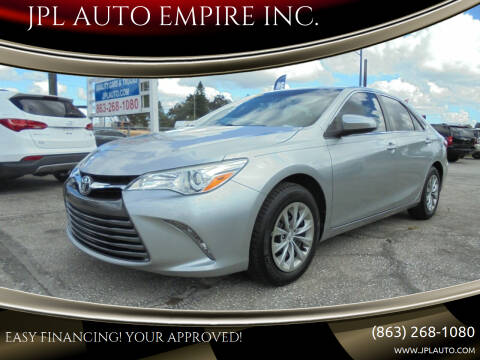 2017 Toyota Camry for sale at JPL AUTO EMPIRE INC. in Auburndale FL