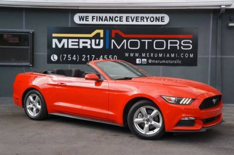 2015 Ford Mustang for sale at Meru Motors in Hollywood FL