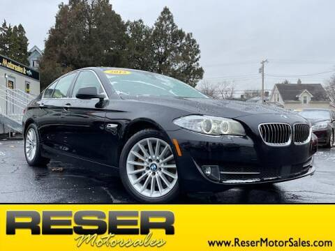 2013 BMW 5 Series for sale at Reser Motorsales in Urbana OH