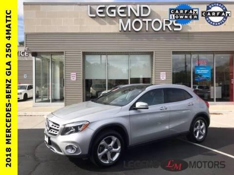 2018 Mercedes-Benz GLA for sale at Legend Motors of Detroit - Legend Motors of Waterford in Waterford MI