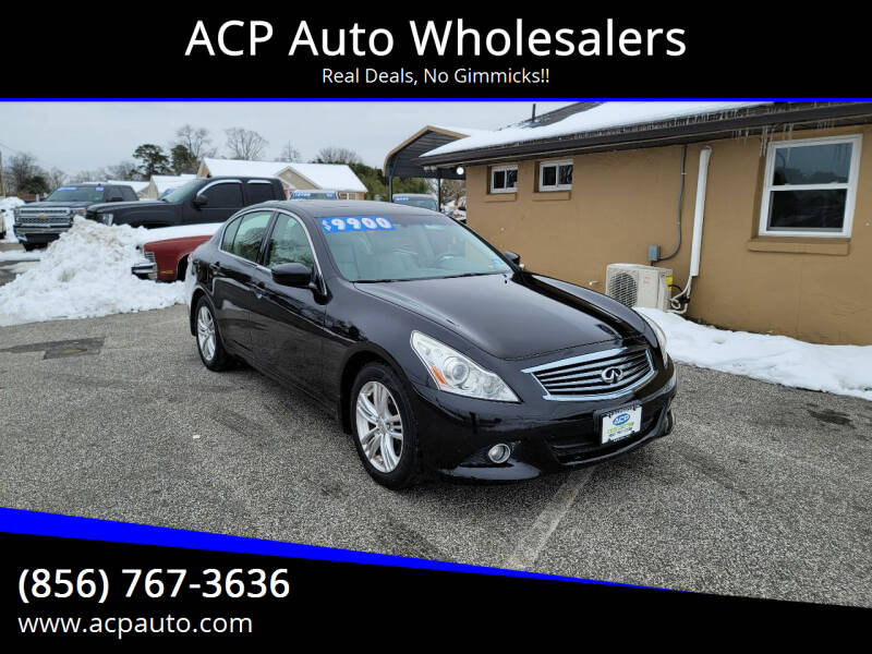 2011 Infiniti G37 Sedan for sale at ACP Auto Wholesalers in Berlin NJ