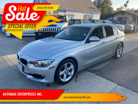 2013 BMW 3 Series for sale at AUTOMAX ENTERPRISES INC. in Roseville CA