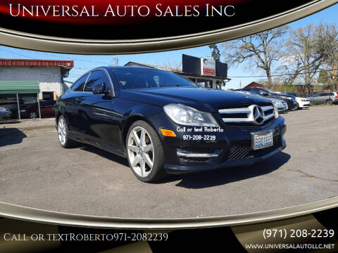 2013 Mercedes-Benz C-Class for sale at Universal Auto Sales Inc in Salem OR