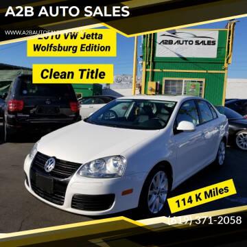 2010 Volkswagen Jetta for sale at A2B AUTO SALES in Chula Vista CA