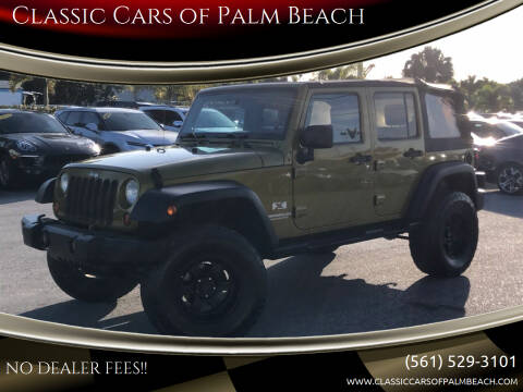 2008 Jeep Wrangler Unlimited for sale at Classic Cars of Palm Beach in Jupiter FL