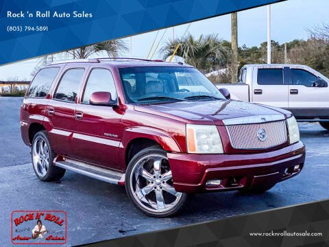 2002 Cadillac Escalade for sale at Rock 'n Roll Auto Sales in West Columbia SC