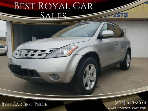 2004 Nissan Murano for sale at Best Royal Car Sales in Dallas TX