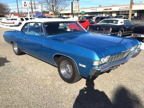 1968 Chevrolet Impala for sale at Black Tie Classics in Stratford NJ