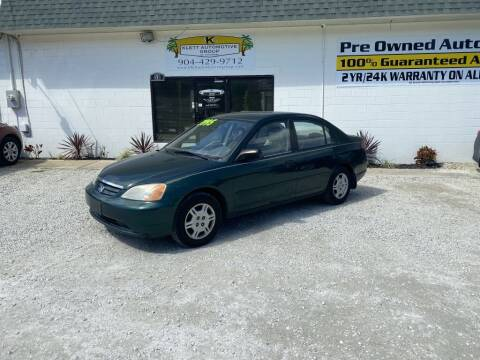 2001 Honda Civic for sale at Klett Automotive Group in Saint Augustine FL