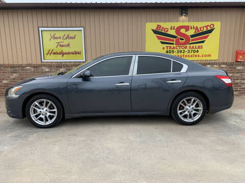2009 Nissan Maxima for sale at BIG 'S' AUTO & TRACTOR SALES in Blanchard OK