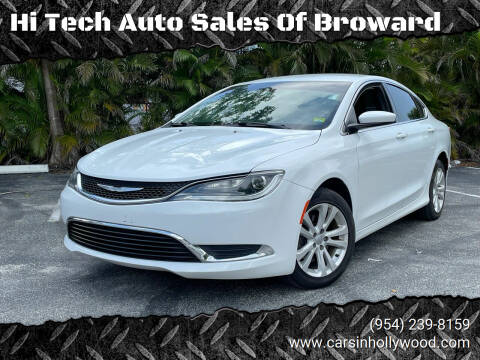 2015 Chrysler 200 for sale at Hi Tech Auto Sales Of Broward in Hollywood FL