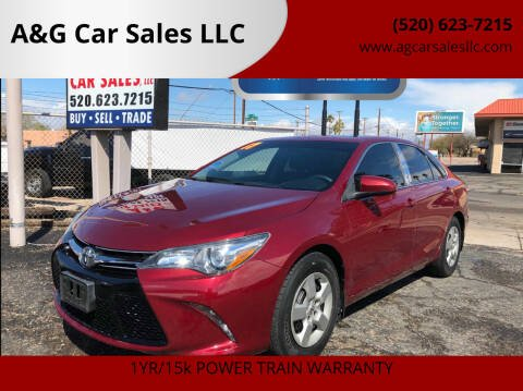 2017 Toyota Camry for sale at A&G Car Sales  LLC in Tucson AZ