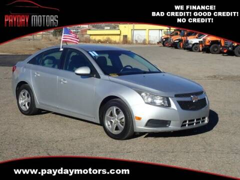 2011 Chevrolet Cruze for sale at Payday Motors in Wichita And Topeka KS