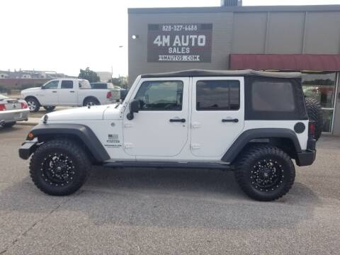 2013 Jeep Wrangler Unlimited for sale at 4M Auto Sales | 828-327-6688 | 4Mautos.com in Hickory NC