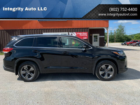 2017 Toyota Highlander for sale at Integrity Auto LLC - Integrity Auto 2.0 in St. Albans VT