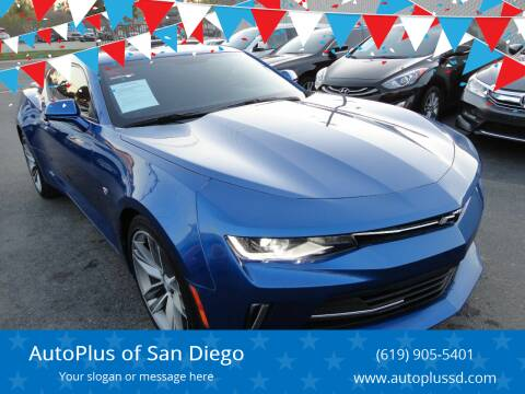 2018 Chevrolet Camaro for sale at AutoPlus of San Diego in Spring Valley CA