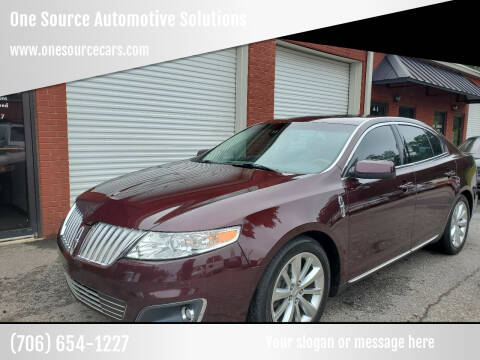 2011 Lincoln MKS for sale at One Source Automotive Solutions in Braselton GA